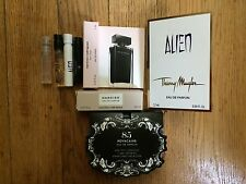 WOMEN  4 VIAL SAMPLE perfume Narcisco Rodriguez Alien Thierry Mugler Novacaine
