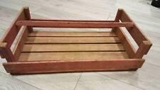 French Large Wooden Potato Pannier/ Trug Vegetable Basket Display Case Crate ;