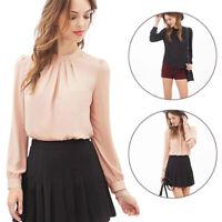 Fashion Women OL Work Formal Shirt Ladies Long Sleeve Office Uniform Top Blouses