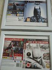 Batman arkham city & origins ps3 sleeves Wall mounted Framed