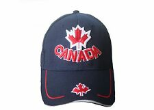 CANADA DARK BLUE WITH  MAPLE LEAF & WORD  EMBOSSED HAT CAP.. NEW