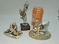Vintage Italian 800, 925 Silver Plated Decorative Items x 3