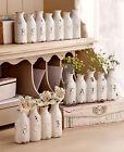 Ceramic Sentiment Vase Rustic Vintage Farm Milk Bottles Decor Believe Hope Faith