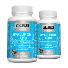 Hyaluronsäure hochdosiert Coenzym Q10 + Biotin+ Zink 2x 60 Kapseln VEGAN 2 Dosen