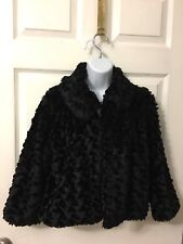 Vintage Mixit Black 100% Polyester Coat Size Small