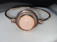 Rose Gold And Rose Quartz Statement Bangle by Majique London