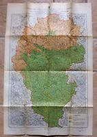 CARTA DELLE ZONE FAUNISTICHE DELLA PROVINCIA DI VICENZA C.A. 1930-L2833