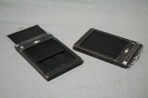 MPP 5x4 cut film holders x 2, wooden,  freepost