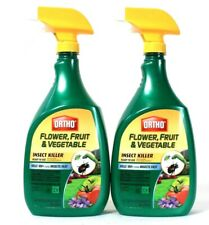 2 Bottles Ortho 32 Oz Flower Fruit & Vegetable Insect Killer Ready To Use Spray
