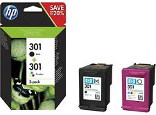 Genuine 301 Black and Colour Ink Cartridges, AUG 2021, FREE POSTAGE