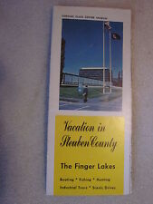1960's Vacation in Steuben County, Ny pamphlet brochure The Finger Lakes