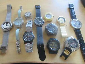 12 Watches Skagen Seiko Waltham Casio Bill Blass &... For Parts or Repair