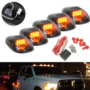 Smoked Lens Roof Top Cab Amber Running Light DRL LED for Dodge RAM 1500 2500