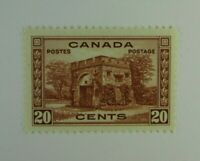 1938 Canada SC #243  KING GEORGE VI   MH 20 cent stamp VF