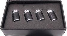 ECHT CARBON Ventilkappen Auto Ventil Universal für Auto Ventile Edel 4 Stück