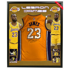 LEBRON JAMES HAND SIGNED LOS ANGELES LAKERS JERSEY NBA BASKETBALL CAVS HEAT