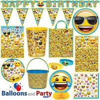 Emoji Emoticon Child's Birthday Party Tableware Decorations Supplies