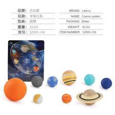 Mini nueve planetas modelo del sistema solar primitivo Homo erectus estática Ornamen sólido