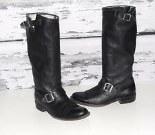 FRYE~GENUINE LEATHER *SLOUCHY VERONICA* DOUBLE BELTED BUCKLE~TALL FLAT BOOTS~8.5