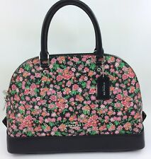 New COACH  F57622 Sierra Satchel In Posey Cluster Floral Print Coated Canvas