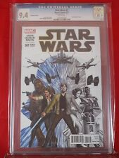 Marvel Star Wars 1 HEROES and HOTSHOTS LLC Sketch Cover CGC 9.4  WHITE PAGES