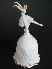 Queen Odette Swan Lake- Collector Bisque Bell- Ballerina Dancer 1980 Roman Inc.
