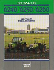 Deutz-Allis 6240, 6250 and 6260 Tractor Brochure Leaflet