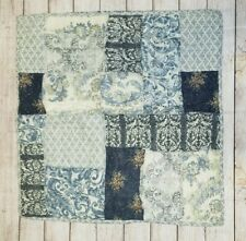 Pottery Barn Delaney Patchwork Reverse Euro Quilted Shams Multi Color Pre-owned