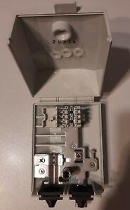 Endverzweiger 2DA EVZ 83 LSA Leiste innen aussen IP54 Verteiler