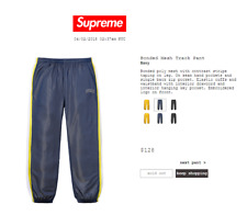 Supreme Bonded Mesh Track pant. navy size small
