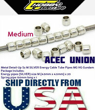 Metal Detail Up Size M Silver Energy Cable Tube Pipes MG HG Gundam U.S.A. SELLER