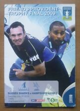 Sussex v Hampshire, 25/09/2009 - Friends Provident Trophy Final Programme.