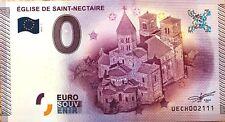 BILLET 0 ZERO EURO  SOUVENIR TOURISTIQUE  EGLISE DE SAINT NECTAIRE  2015