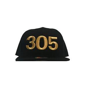 305 TILL I DIE Black Snapback Hat Baseball Cap Men Women Unisex miami dadestyle