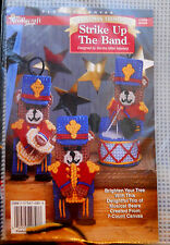 Plastic Canvas Christmas Ornament Kit STRIKE UP THE BAND Bear Needlecraft Shop