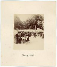 France, Nancy, à la fête foraine, 1887 Vintage albumen print Tirage albuminé