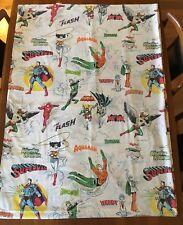 VINTAGE DC COMICS Inc 1977 Batman Superman Wonder Woman Aquaman Twin Flat Sheet