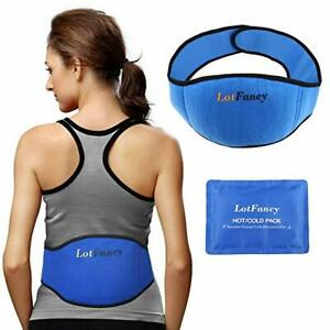 Reusable Gel Ice Pack Hot Cold Heat Therapy Wrap Belly Waist Back Pain Relief