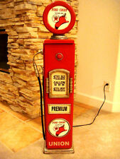 """42"""" Texaco Fire Chief Gas Pump Cabinet with light. Mancave/Gameroom."""