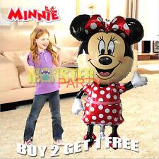 "jumbo 44"" Mickey Minnie Mouse Birthday Party Balloons Balloon Red Bow Tie"