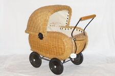 Nostalgie geflochtener Puppenwagen Kinderwagen Korbpuppenwagen Korbwagen Knorr