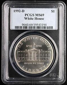 1992 D White House Commemorative Silver Dollar PCGS MS 69 | UNC BU