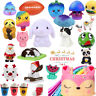 Jumbo Adorable Squeeze Cartoon Slow Rising Fruit Scented Stress Relief Toy Lot