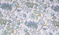 RICHLOOM CRAWFORD AZURE 100% Cotton Floral Jacobean print fabric flowers leaves