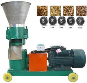 2MM Holes Pellet Feed Mill Machine Pellet Fodder Press Pelletizer 220V New
