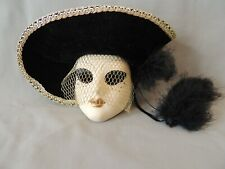 Beautiful decorative ceramic and velvet mask