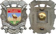 Sapeurs Pompiers, SAINT MARTIN d'HERES, 38, flammes argent, Delsart (7494)