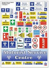 G LGB 1:24 Scale Modern Garage Posters & Notices Signs Railway Layout Diorama
