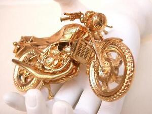 ## YAMAHA RZ/RD 250 350 DieCast Model Heavy Gold RARE ##