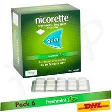 Nicorette Gum Freshmint 2mg of 210 Pieces  6 Packs ---  Expiry March 2023